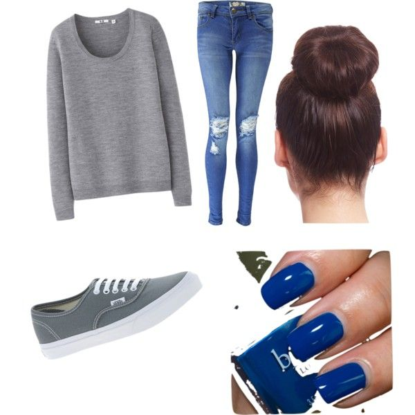 """""""A very very very simple school outfit❤️"""" by xhelovesme on Polyvore"""