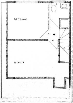 loft floorplan with two rooms