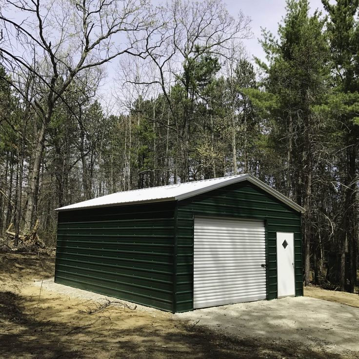 67 18x26x9 Garage Vertical Roof 1 10x8 Doors 1 Service Door 4 915 Tax And Anchors Metal Garages Metal Shed Shed
