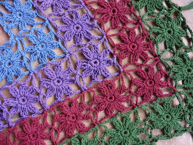 rosetas de crochet