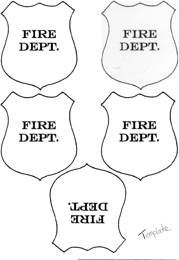 Firefighter Hat Template Printable