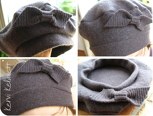 brilliant upcycle - sweater to hat