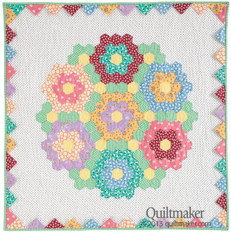 """""""Nana's Bouquet"""" was designed and sewn by Kari Ramsay. Quilted by Holly Williams-Sosa."""