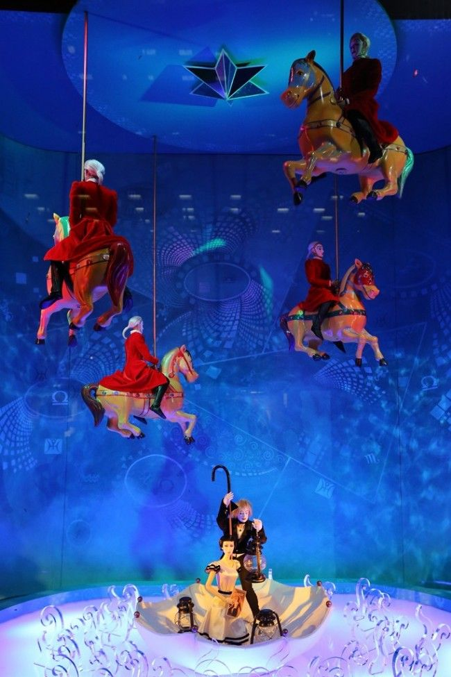 "Horse Carousel @ Bloomingdale's ""Cirque du Soleil: Worlds Away"" Holiday Window Display 2012"