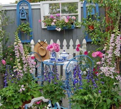 The Painted Garden: Where Bloggers Create 2011/not the mirror; birds will fly into it and get killed or badly injured.