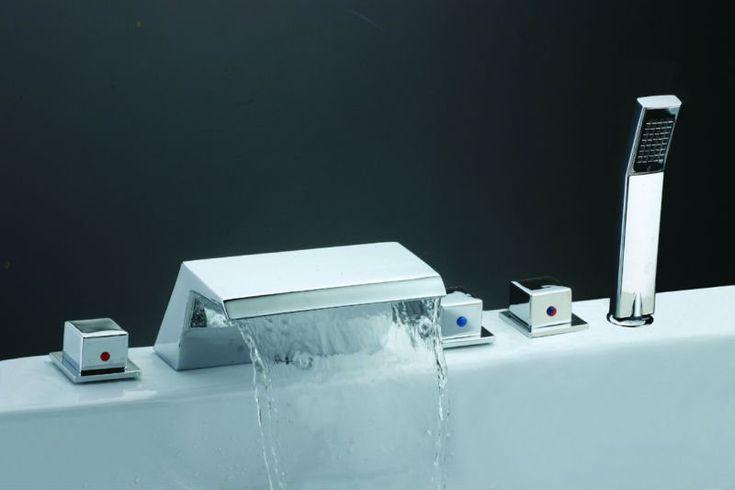 Bathtub Water Mixer Spa Waterfall Spout Hot Tub Hand Shower ...