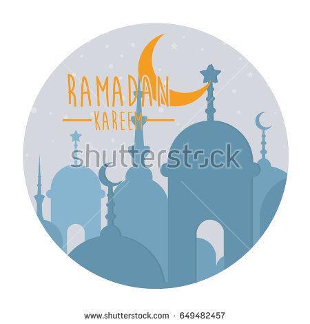 ramadan kareem month celebration greeting card design illustration, happy ied mubarak islamic traditions