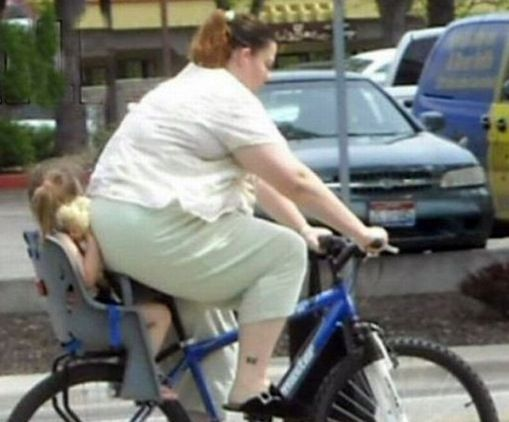 Taking Baby for a Bike Ride - You're Doing It Wrong ---- Best funny, pictures, humor, jokes, memes, hilarious, quotes