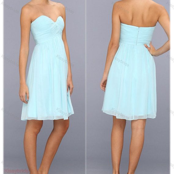 Short bridesmaid dress  mint evening dress / short by KissyBride, $84.00