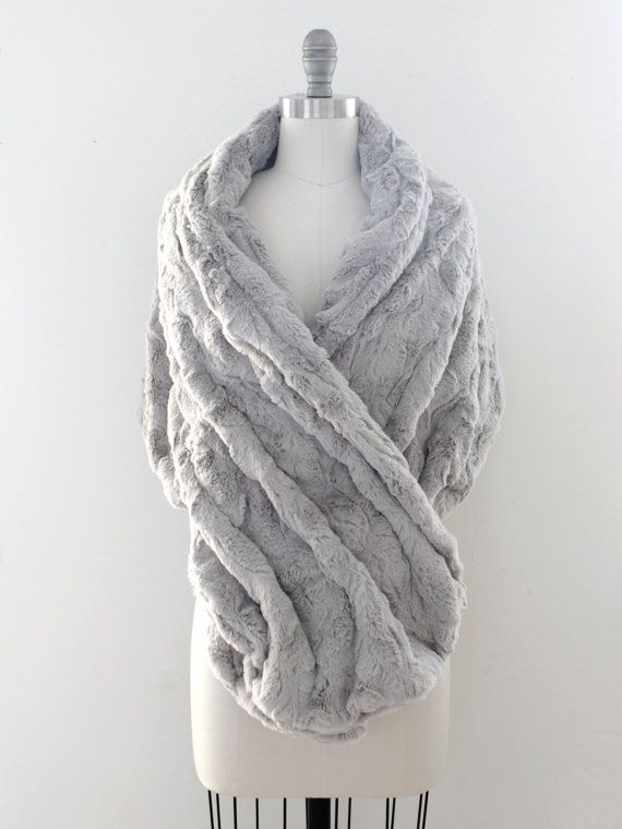 Wedding shawl | Winter Wedding | Bridal Fur Stole | Faux Fur Wrap [York Fur Shawl: Silver Birch]