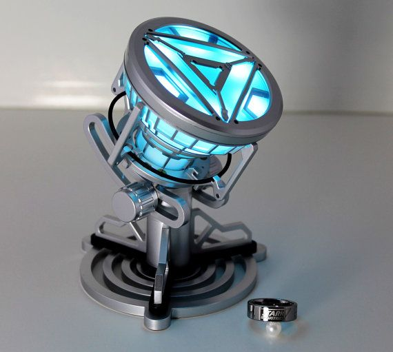 The Iron Man II Arc Reactor has been replicated full size, 1:1 with an intricate stand. Stand and Arc Reactor are both made entirely out of PVC,