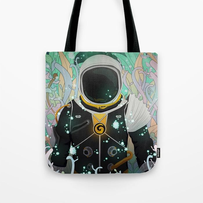 Xenesis App Tote Bag #society6 #digital #illustration #space #astronaut #nature #plants #life #particles #decor #lights #explore #traveler #universe #planet #forest #fantasy #scifi #adventure #alien #kids