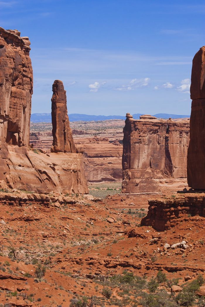 The red rocks of Park Avenue in Arches National Park - Moab, Utah.