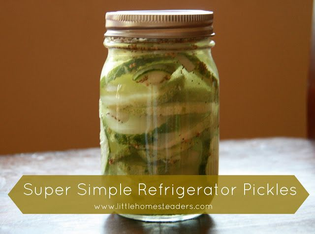 Simple Refrigerator Pickles - No Canning Required :: Five Little Homesteaders