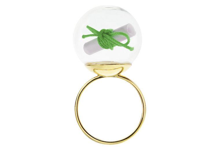 Minty dot pierścionek My Wish - spełnij swoje życzenie!