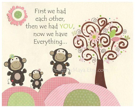 Baby girl room art Nursery wall art print..Safari by DesignByMaya, $17.00