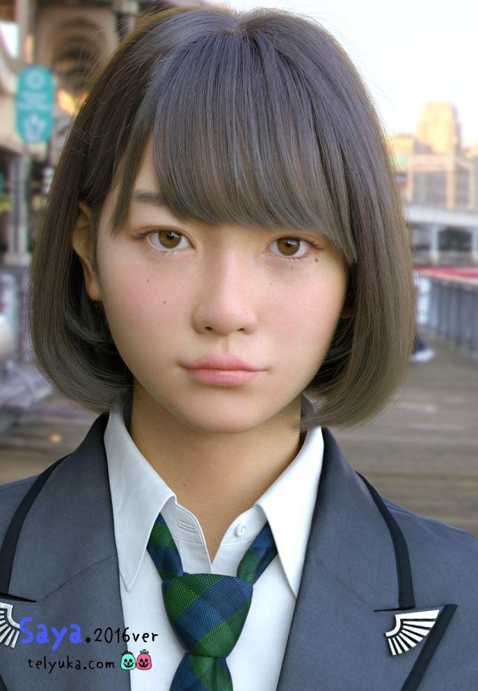 3DCG女子高生Saya2016がヤバい出来に。完全に不気味の谷を超えた(世永玲生) - Engadget Japanese