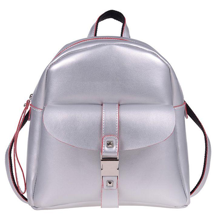 ΤΣΑΝΤΑ PIERRO 00173 ΑΣΗΜΙ  Τσάντα πλάτης με εξωτερικό μπροστινό τσεπάκι,  διακοσμητική κλειδαριά και πίσω τσέπη με φερμουάρ.  Ύψος29  Πλάτος27