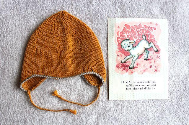 DIY : le tuto du petit bonnet en point de jersey pour un nouveau-né. Source : Rita le chat