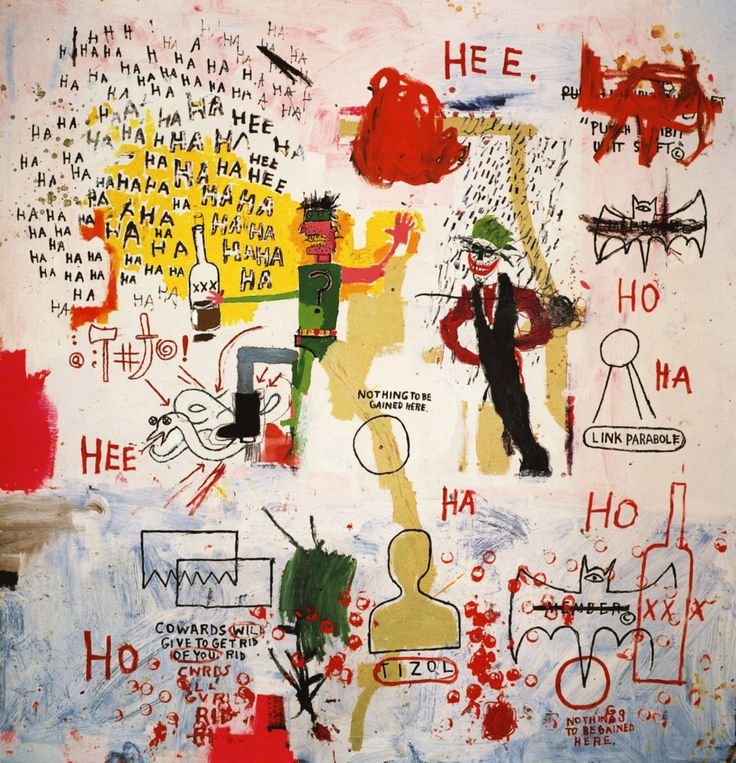 jean michel basquiat paintings | Riddle Me This, Batman - Jean-Michel Basquiat - WikiPaintings.org