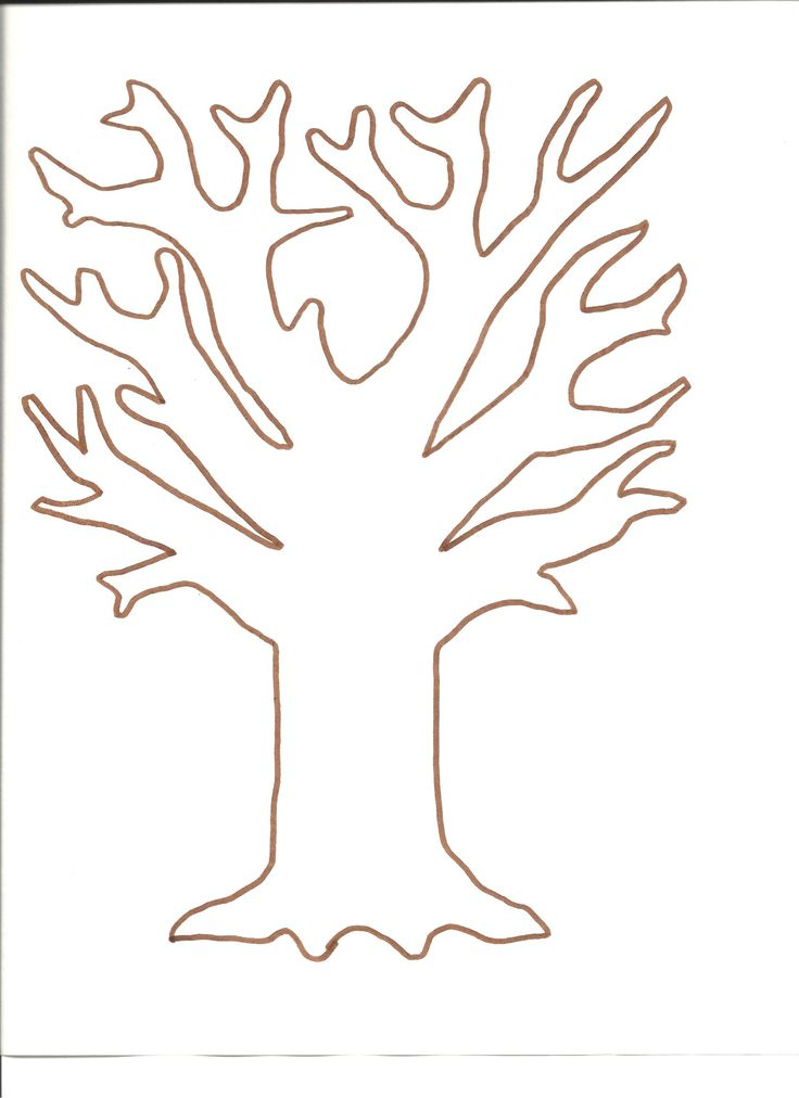 Tree template for fingerprint and tissue paper tree…
