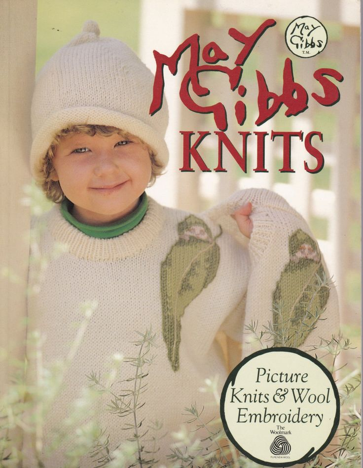 May Gibbs Knits - Picture Knits and Wool Embroidery Book by SuesUpcyclednVintage on Etsy