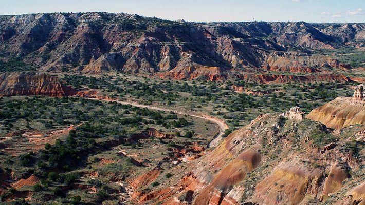 Palo Duro Canyon (SUA)  20 de poze deosebite cu canioane, adevarate sculpturi ale naturii - galerie foto.  Vezi mai multe poze pe www.ghiduri-turistice.info  Sursa : www.wikimedia.org