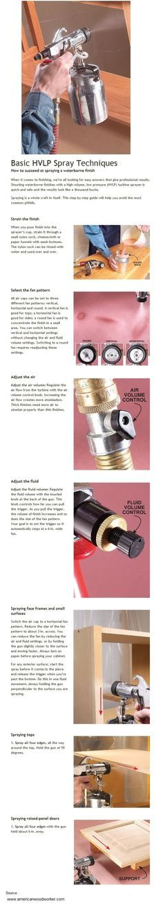 Basic HVLP Spray Techniques | WoodworkerZ.com