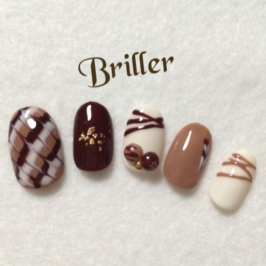 nail art like a chocolate