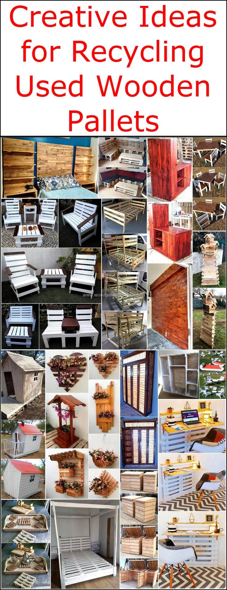 Now simply reshape the wood pallets present at your home or easily available at nearby wooden markets and construct, pallet outdoor furniture set, a beautiful kid's bunk bed, an awesome looking bed headboard and much more. The useless wood pallets provide us full freedom of creativity so modify them to create new wooden products for your home.