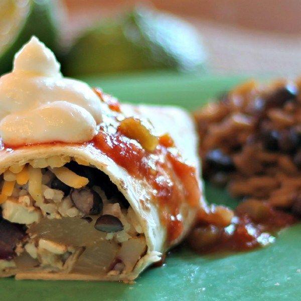"Vegetarian Jamaican Jerk Burrito |""I used Walkerswood Jerk Seasoning (the preferred island seasoning) and diluted it with Italian dressing for my marinade (1 part seasoning, 2 parts Italian dressing)."""