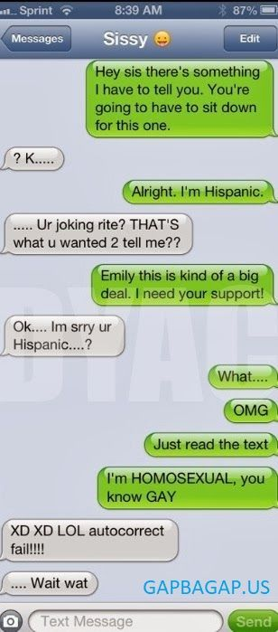 #Funny #Autocorrect Fail About Brother vs. Sister