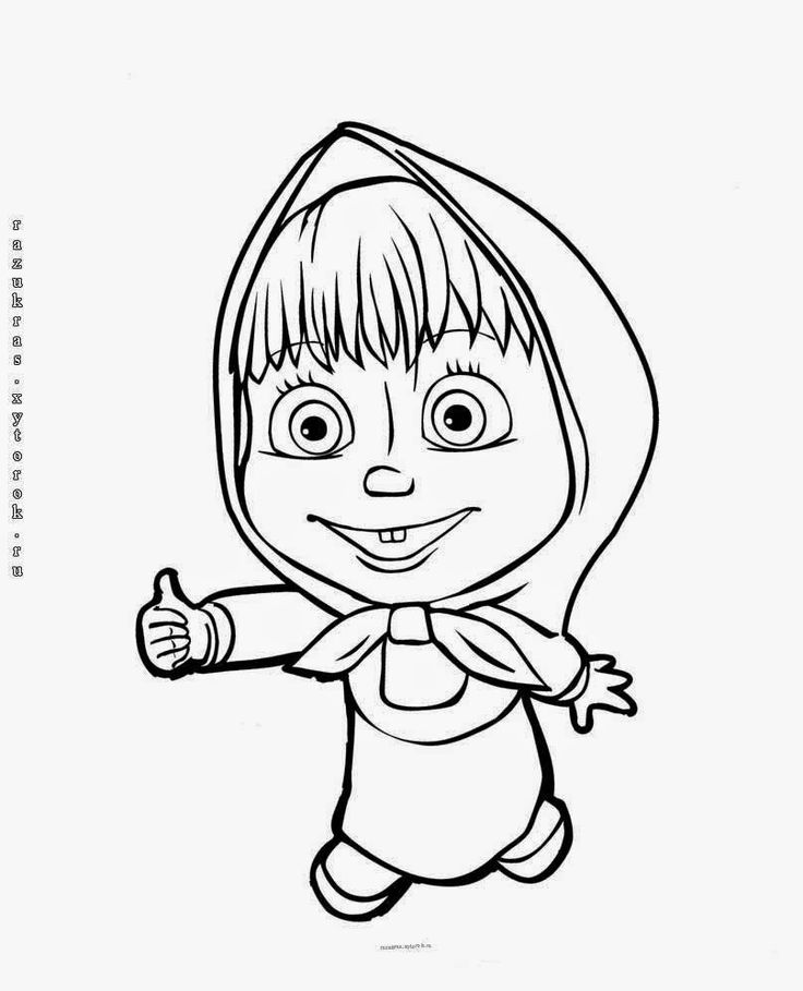 masha i medved coloring pages - photo#26