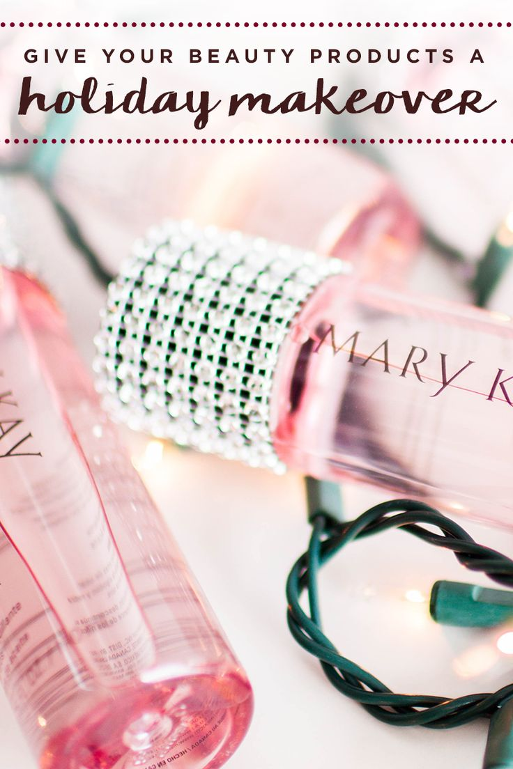 Holiday DIY alert! Add extra pizzazz to any beauty gift by adding jewels, ribbon, or your favorite crafting supply. We love these rhinestone decorated Oil-Free Eye Makeup Removers! It's easy and makes everything sparkle for the season. | Mary Kay