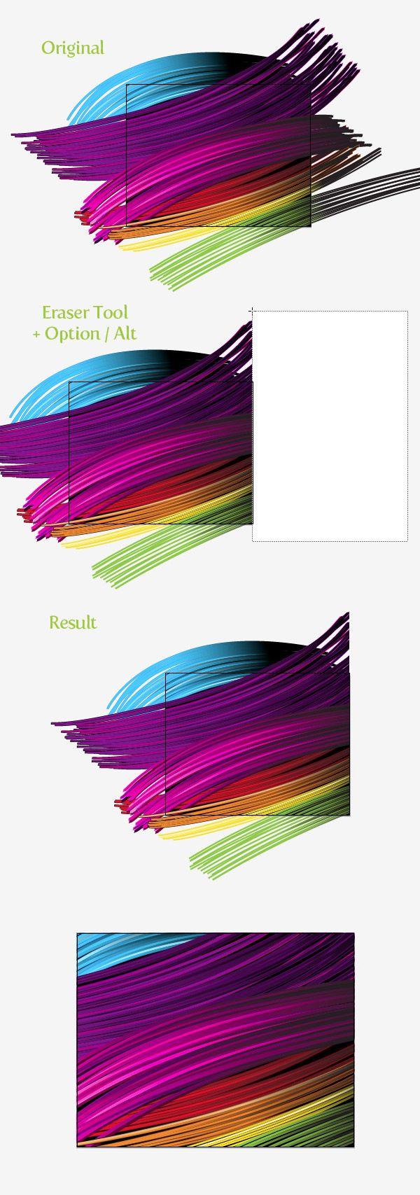 Design large banner in illustrator - Illustrator Tip Option Erase