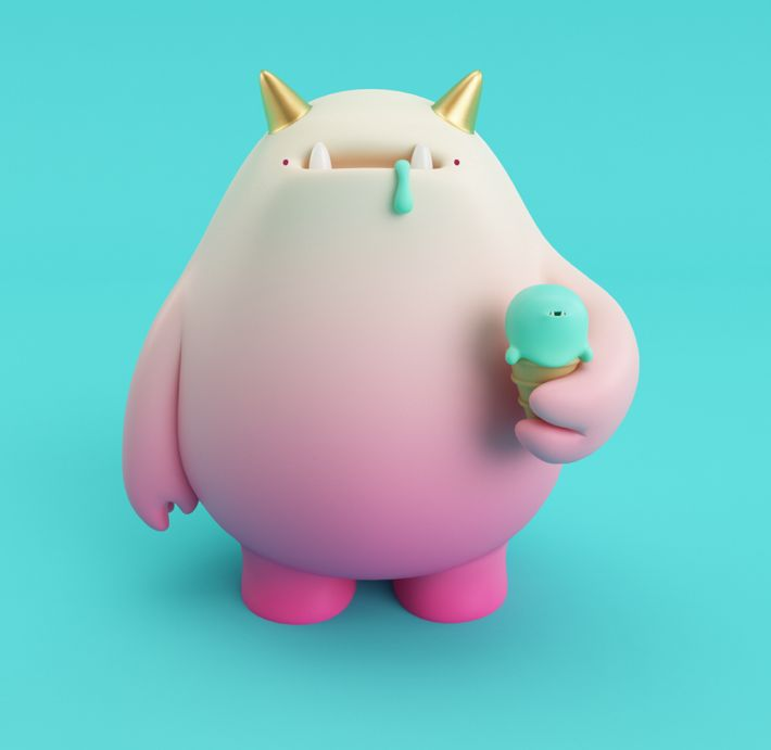 ice cream monster from Behance