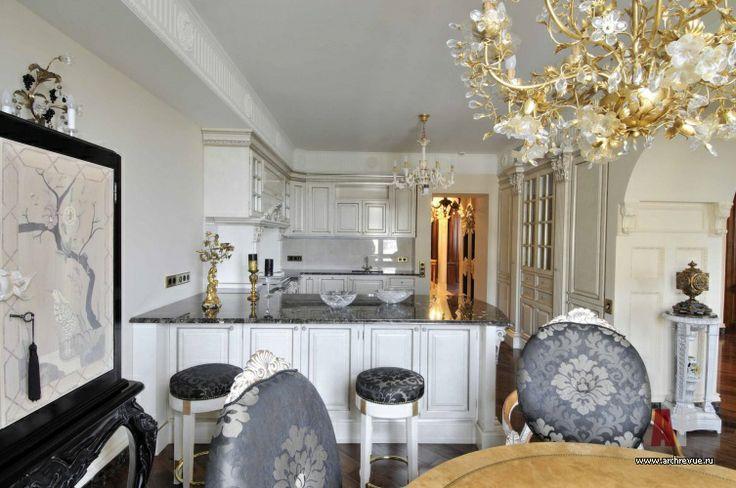 #Design #interior of an #apartment  in classic style (14 photos) | Дизайн интерьер квартиры в классическом стиле (14 фото) - Фото интерьера кухни