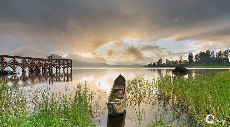 Sunset, Danau di Atas, Alahan panjang, solok, Sumbar