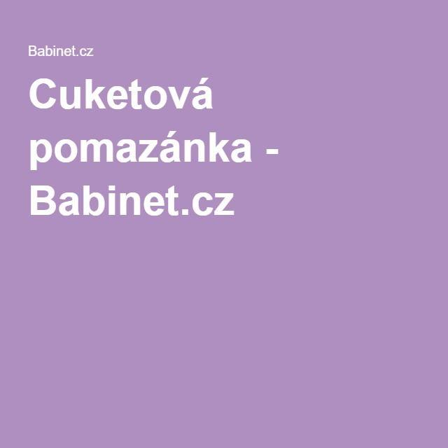 Cuketová pomazánka - Babinet.cz