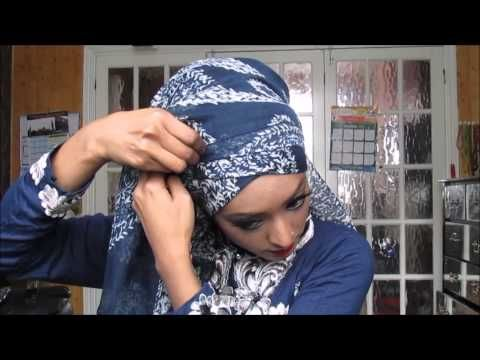 Side drape Hijab tutorial Ft Laylasboutique - YouTube