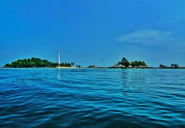 Lengkuas Island from a distance, Belitung, Indonesia