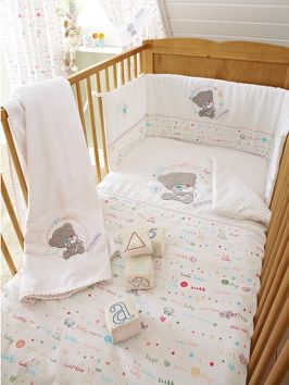 Tiny Tatty Teddy Quilt And Per Set