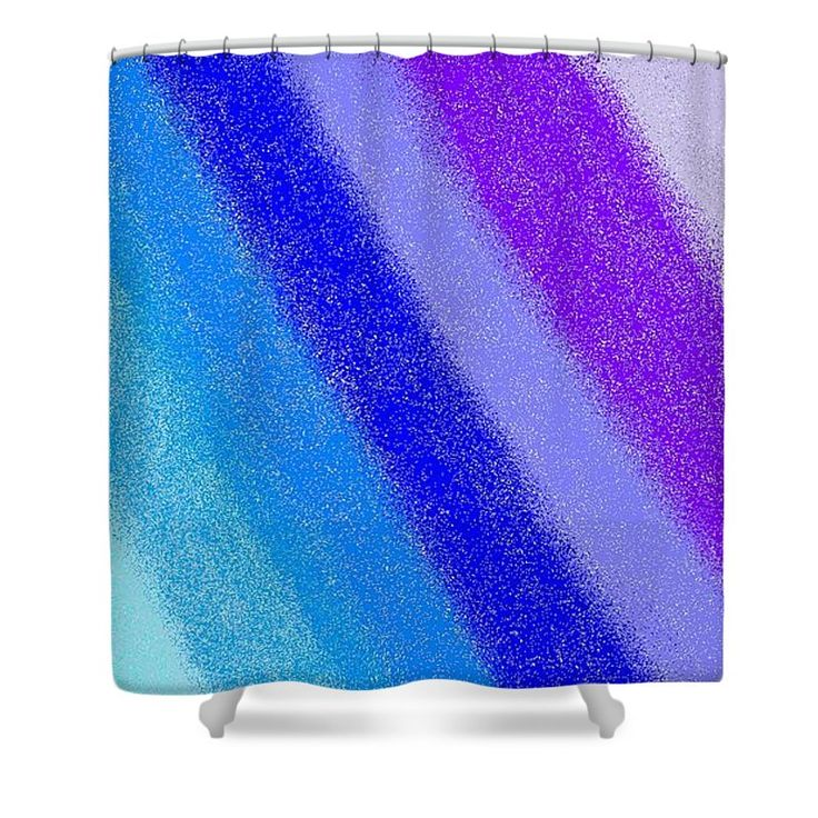 Shower Curtains of 'Colorful 3' by Sumi e Master Linda Velasquez.