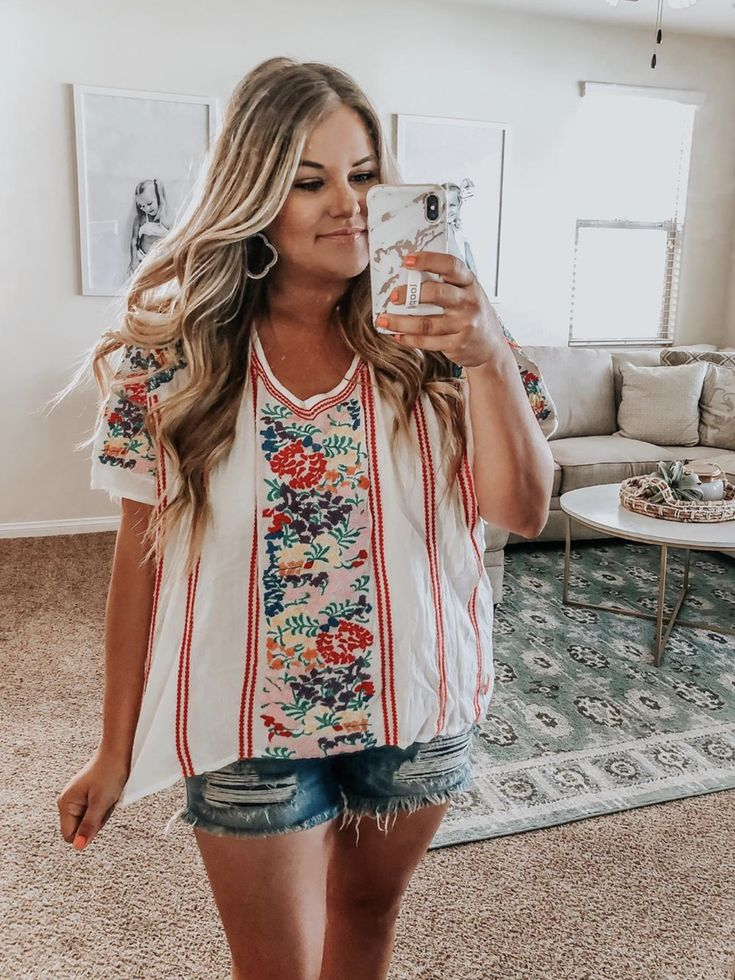 Los Cabos Embroidered Cotton Babydoll Top in 2019 | VICI ...