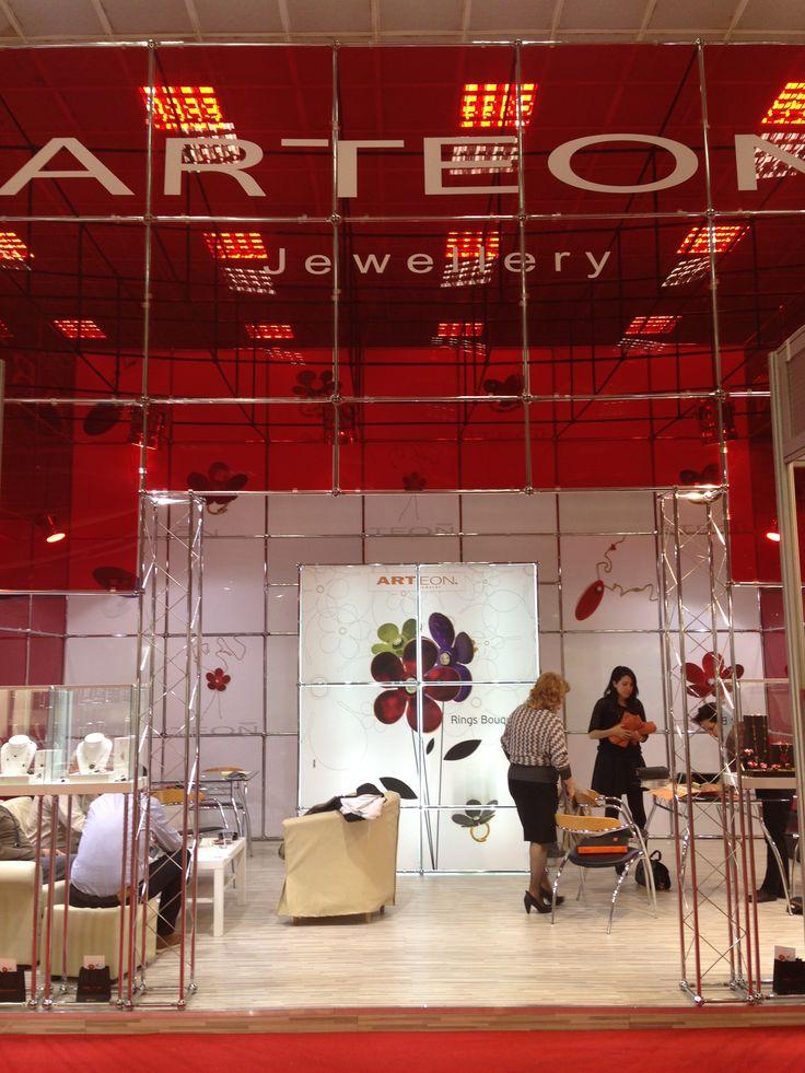 arteon's booth in Kosmima jewellery show