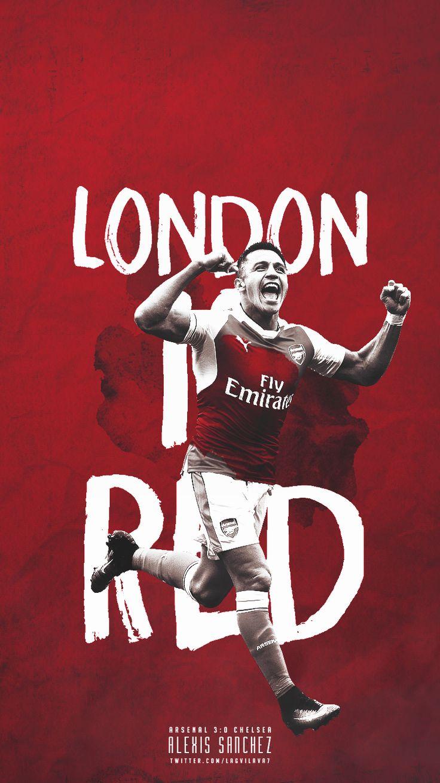 London is RED #ARSENAL FC #ALEXIS SANCHEZ