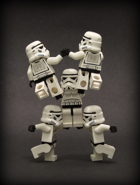 LEGO Star Wars Storm Troopers stunting