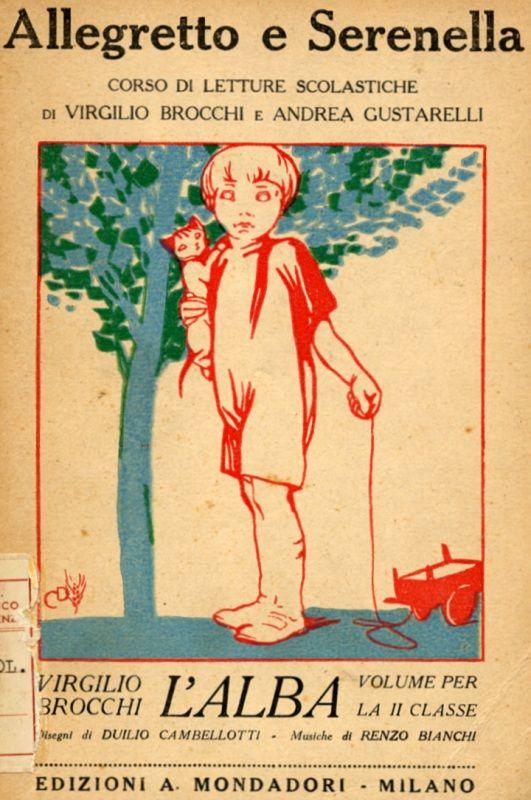 Allegretto e Serenella (second grade primer) | illustrated by Duilio Cambellotti