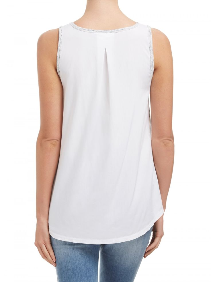 Tees & Tanks - Pleat Back Tank - Clothing - Sussan