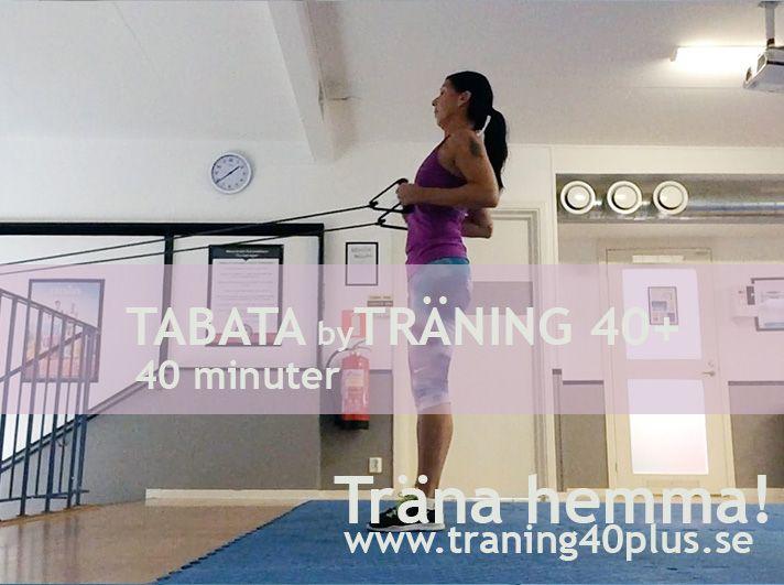 Kom i form och bli starkare med TABATA. Enkelt och effektivt 40 minuters pass med video, bilder och tydliga instruktioner som visar hur du gör. Övningarna för hela kroppen som går att anpassa. Musiklista finns på Spotify. Lycka till och kör hårt!